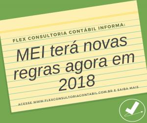 Conheça as novas regras do MEI para 2018